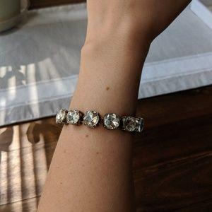 Clear chunky crystal bracelet